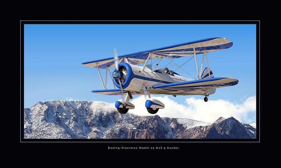 Boeing Pt-17 Stearman Framed Prints Photograph - Pt-17 Stearman by Larry McManus