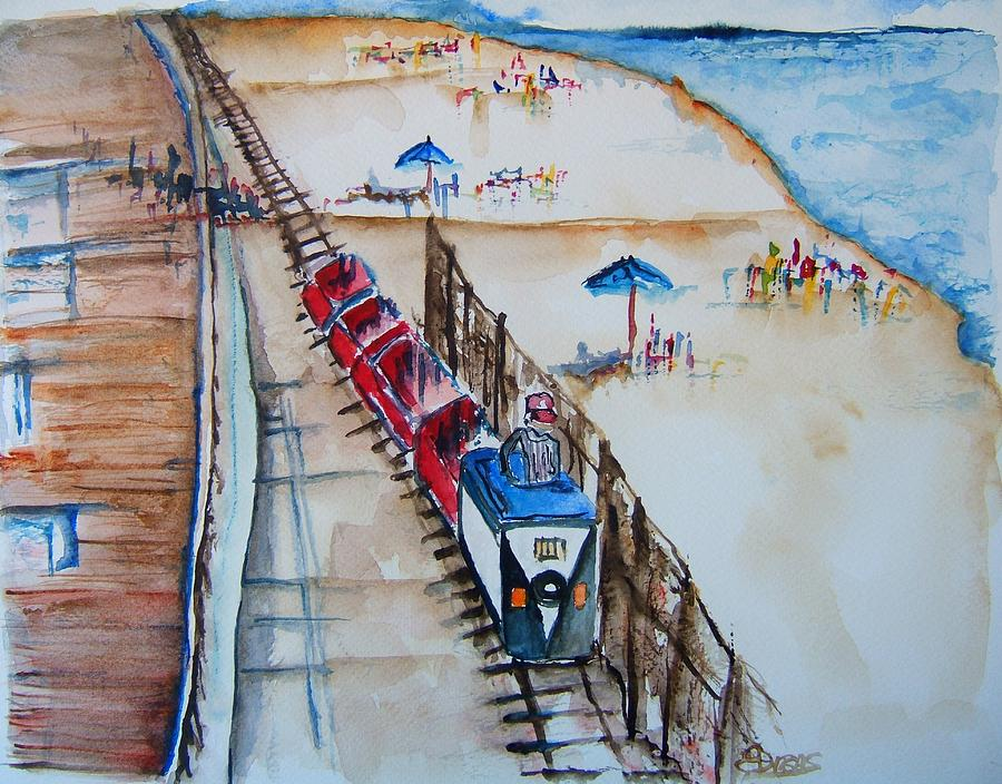 Pt Pleasant Nj Sand Train Painting