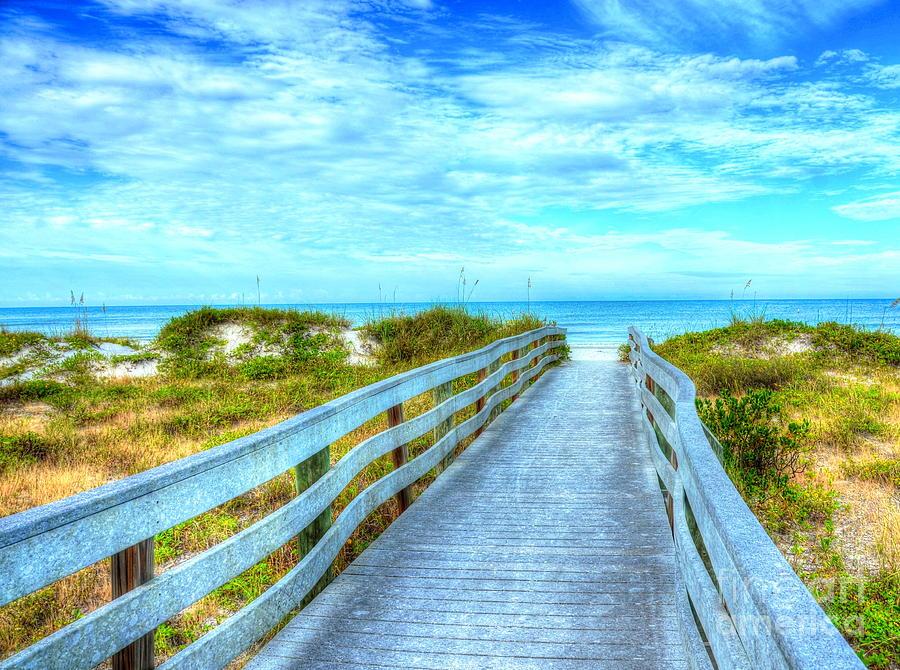 Boardwalk Photograph - Public Access by Debbi Granruth