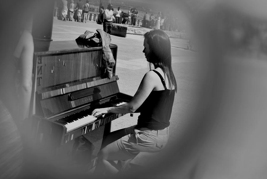 Piano Photograph - Public Music 2 by Frederico Borges