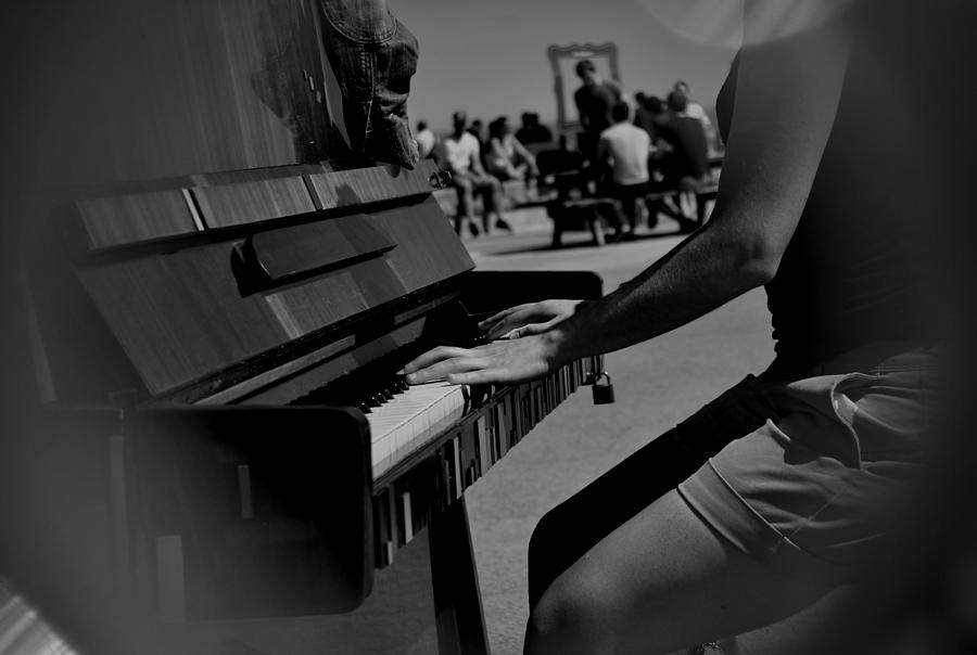 Piano Photograph - Public Music by Frederico Borges