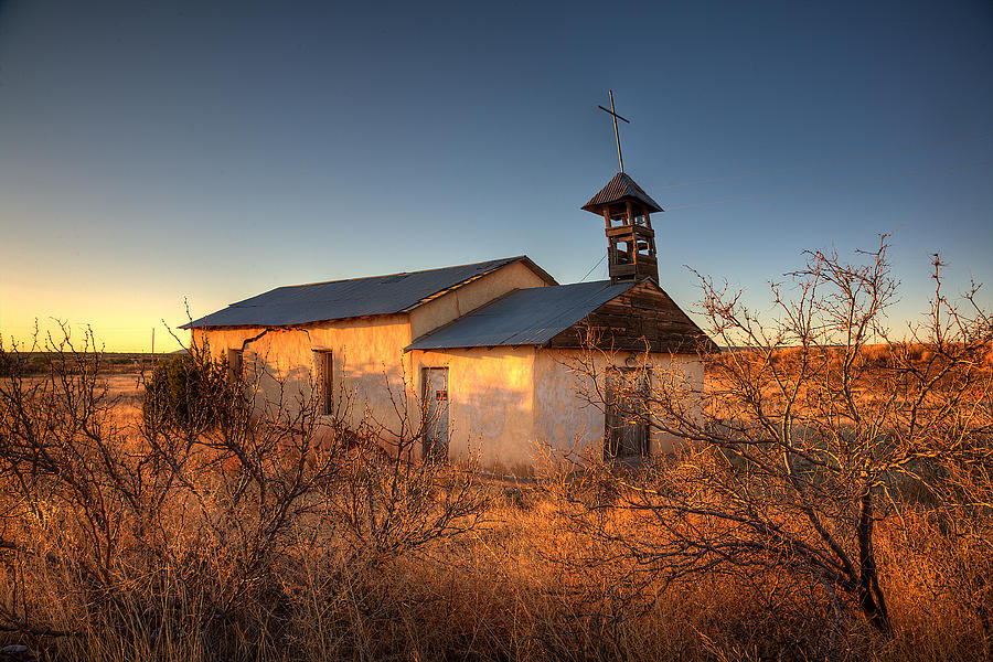 Pueblo Church Photograph