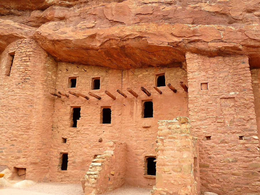 Pueblo Cliff Dwellings Photograph