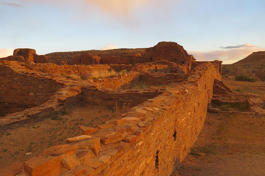 Pueblo Del Arroyo At Sunset Photograph