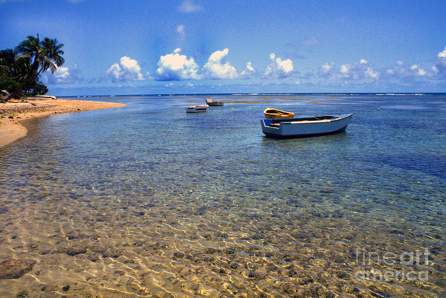 Puerto Rico Luquillo Beach Fishing Boats Photograph  - Puerto Rico Luquillo Beach Fishing Boats Fine Art Print