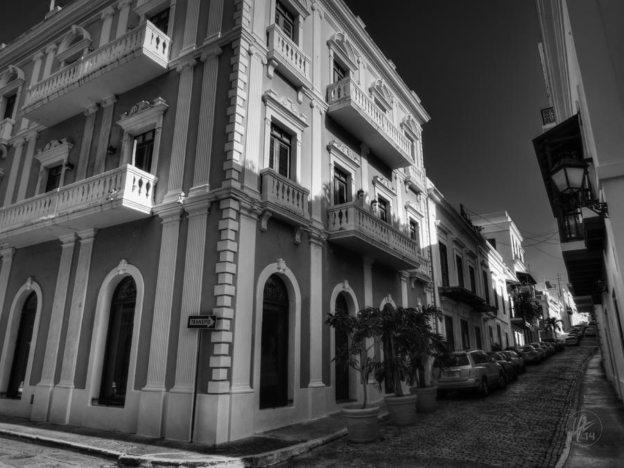 Puerto Rico - Old San Juan 004 Bw Photograph