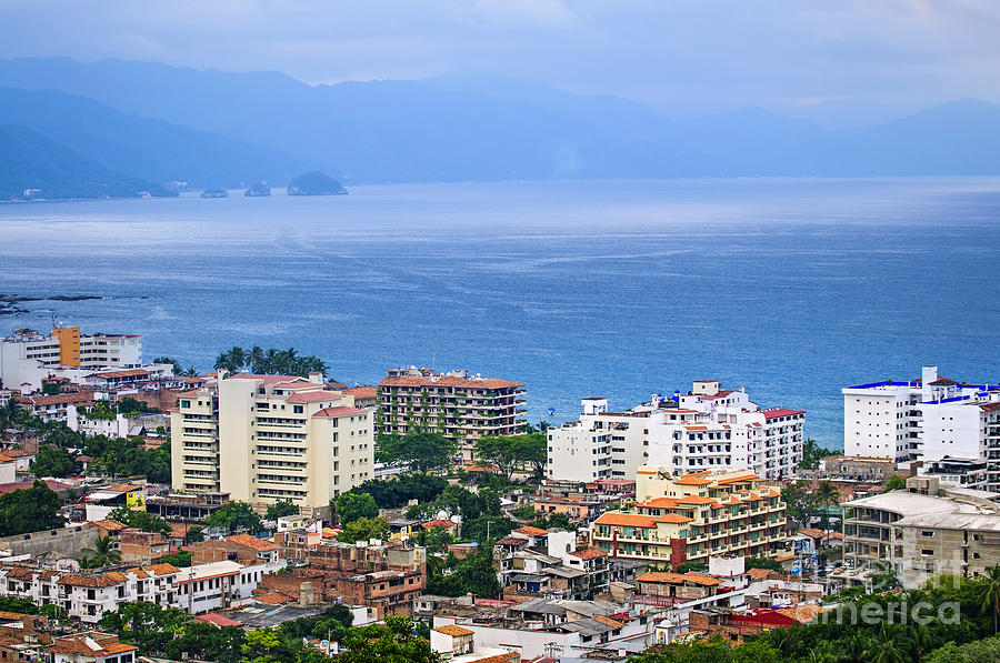 Puerto Vallarta And Blue Ocean Photograph