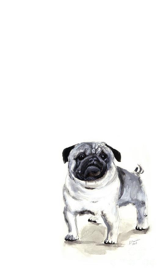 Pug Painting - Pug 1 by Barbara Marcus