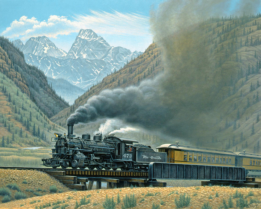 Pulling For Silverton Painting