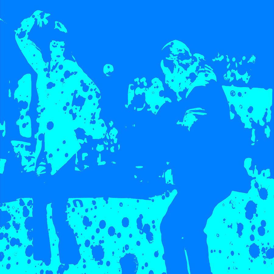 Case Design pulp fiction phone case : Pulp Fiction Digital Art - Pulp Fiction Dance Blue by Brian Reaves