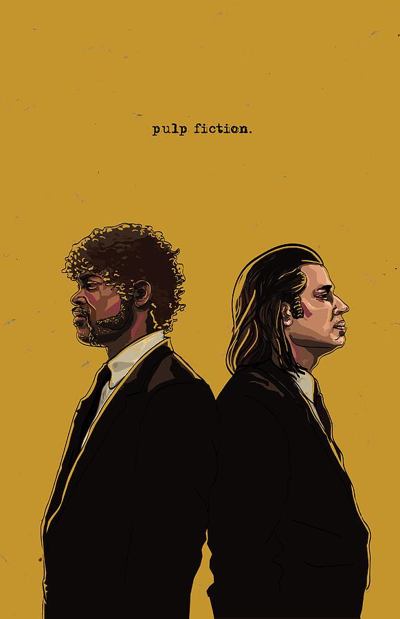 Digital Digital Art - Pulp Fiction by Jeremy Scott