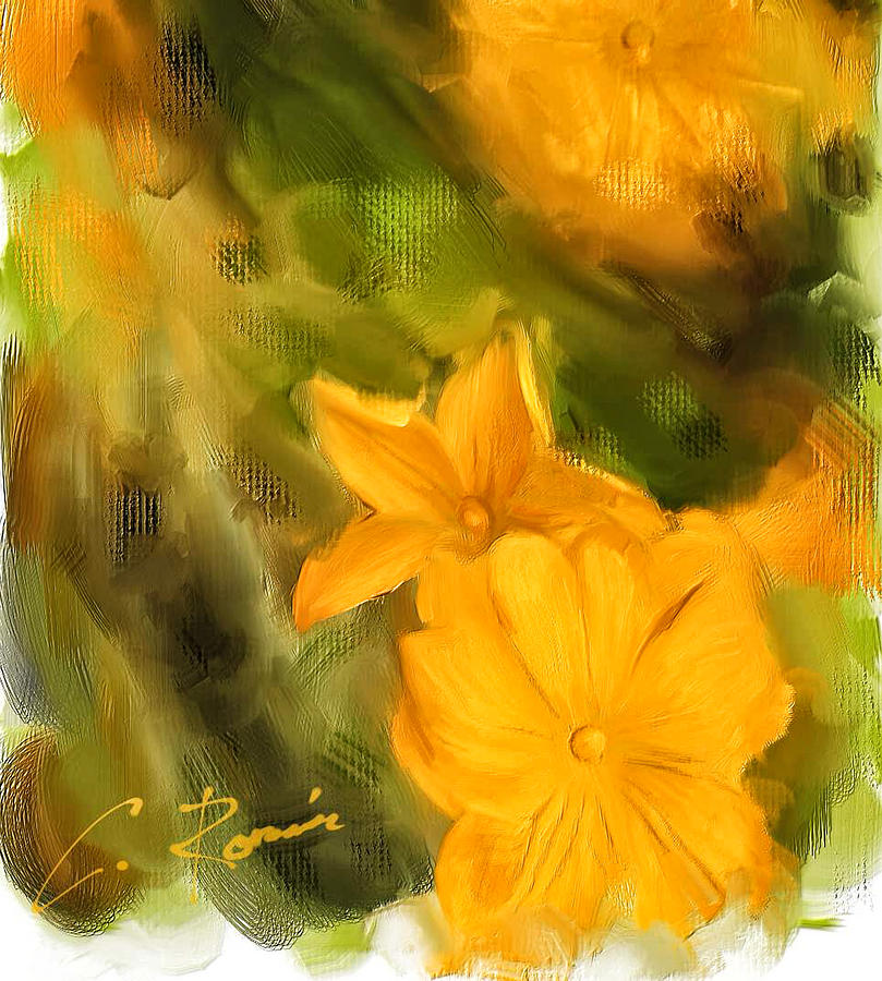 Pumpkin Flowers Painting By Charlie Roman: flower painted pumpkins