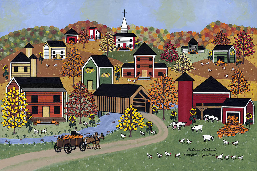 Pumpkin Junction Painting  - Pumpkin Junction Fine Art Print