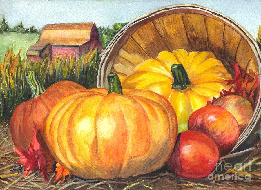 Pumpkin Painting - Pumpkin Pickin by Carol Wisniewski