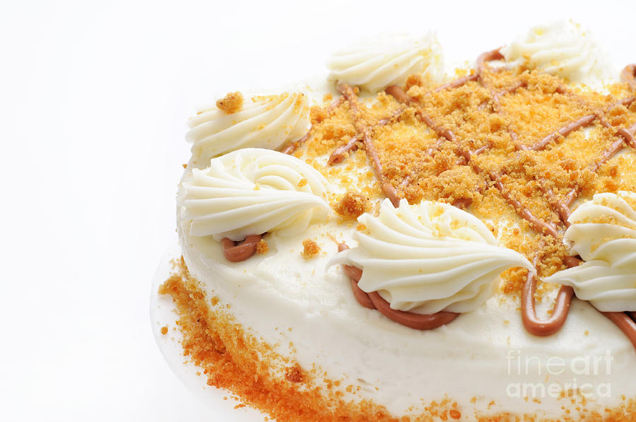 Cake Photograph - Pumpkin Spice Drizzle Cake 2 by Andee Design