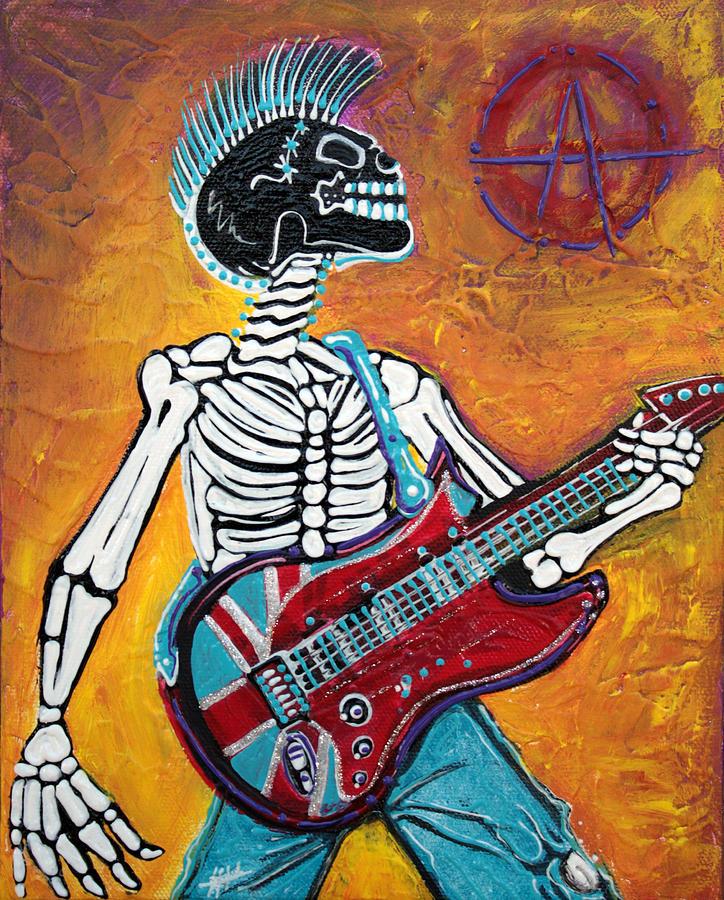 Punks Not Dead Painting