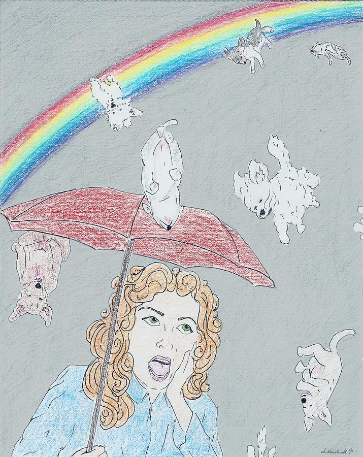 Puppies N Rainbows Drawing