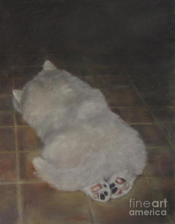 Puppy Feet Painting  - Puppy Feet Fine Art Print