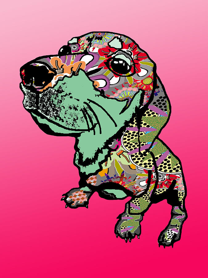 Puppy Graffiti Digital Art  - Puppy Graffiti Fine Art Print