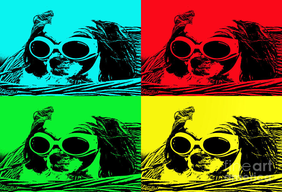 Puppy Mania Pop Art Photograph