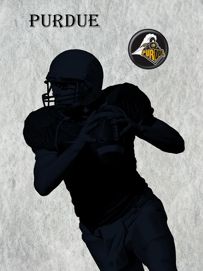 Purdue Football Digital Art  - Purdue Football Fine Art Print