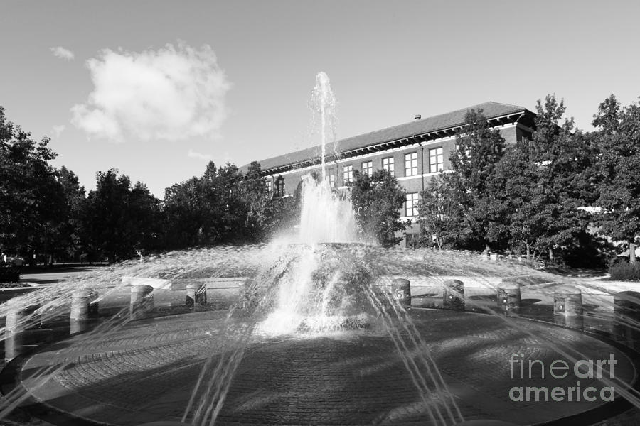Purdue University Loeb Fountain Photograph  - Purdue University Loeb Fountain Fine Art Print