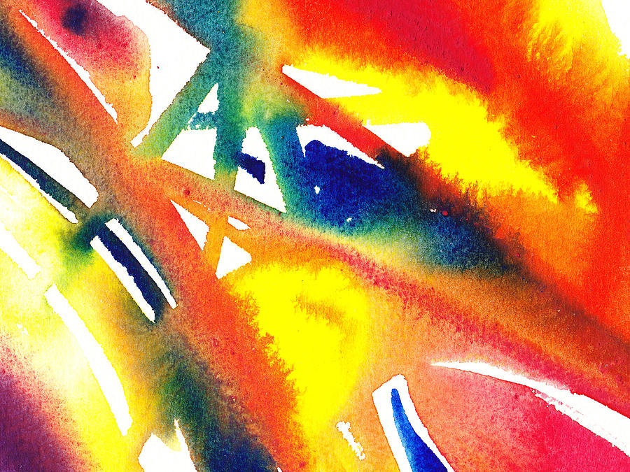 Pure color inspiration abstract painting flamboyant glide for Inspirational paintings abstract