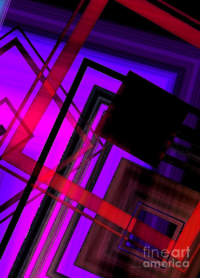 Purple And Red Art Digital Art