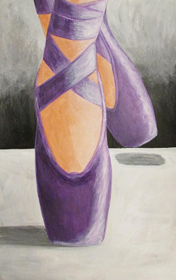 Acrylics Paints Drawing Of Shoe Ballet