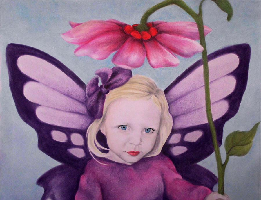 Purple Fairy Pastel  - Purple Fairy Fine Art Print