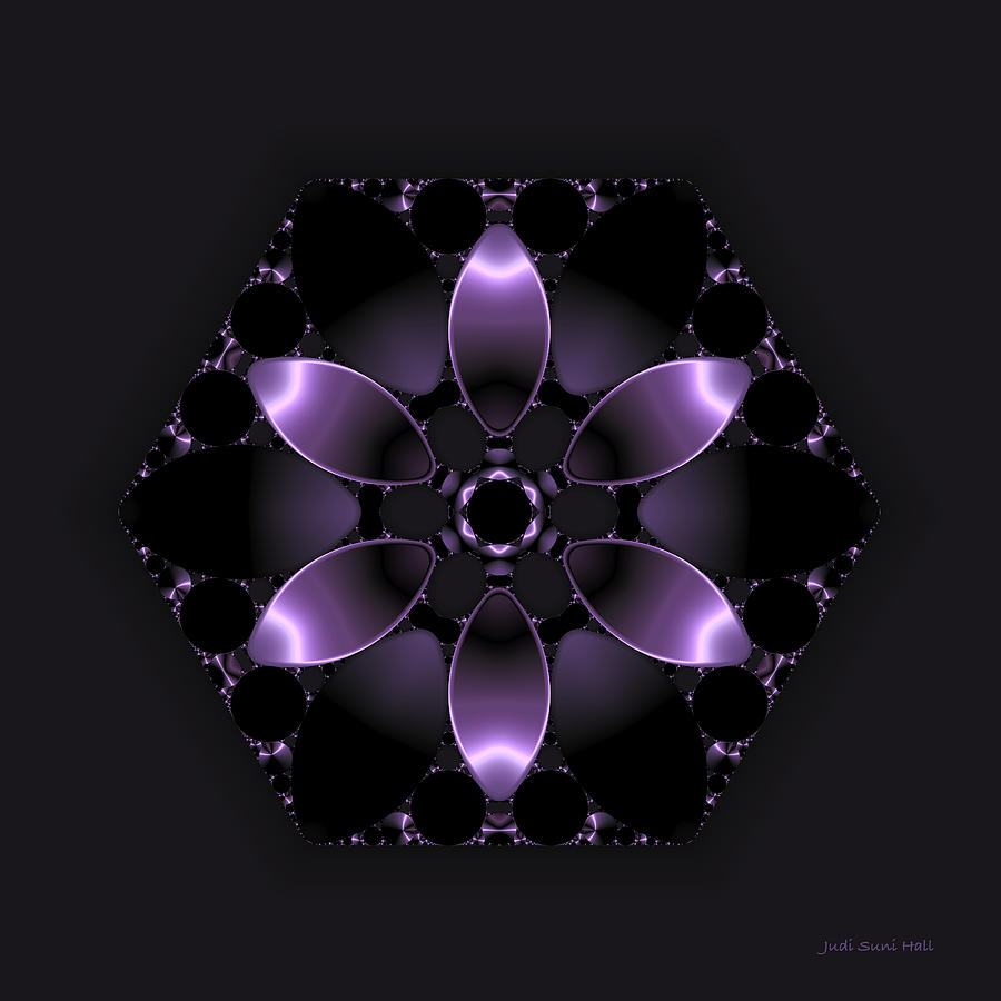 Purple Fantasy Flower Digital Art