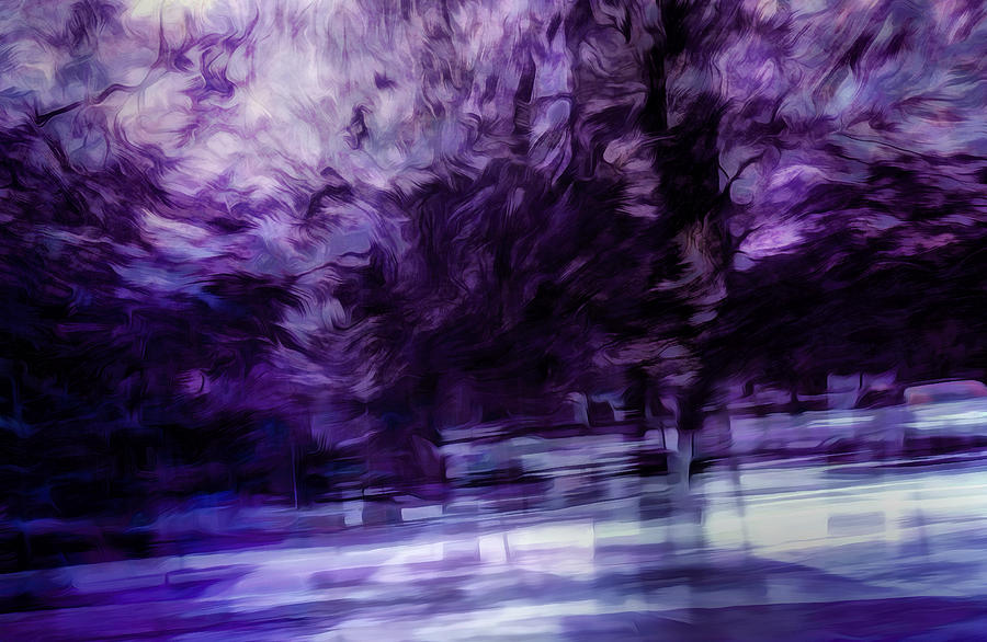 Purple Fire Digital Art  - Purple Fire Fine Art Print