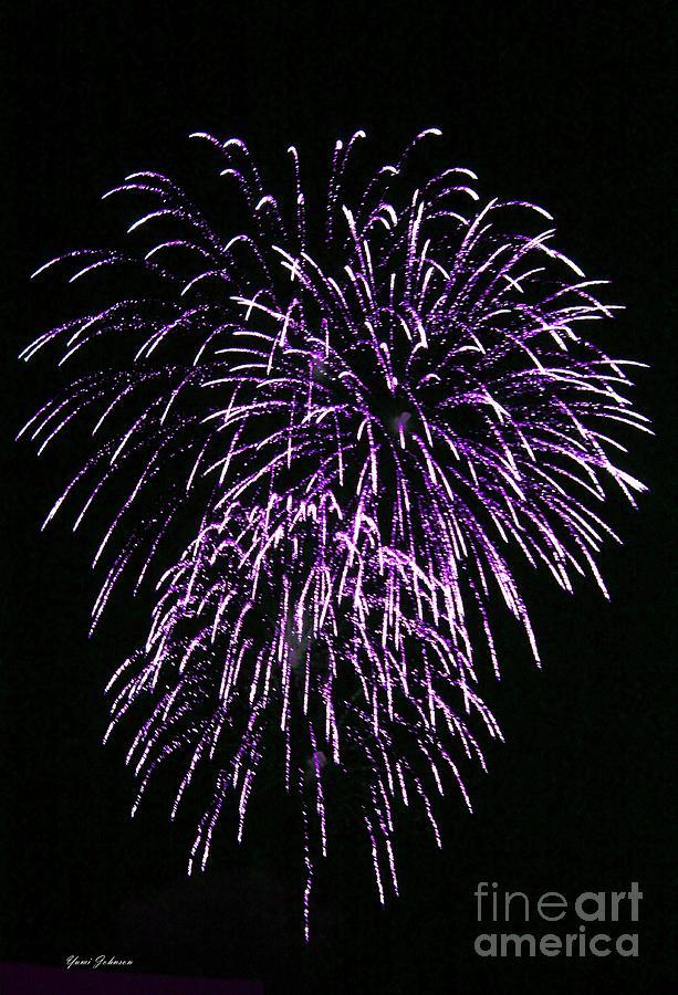 Fireworks Photograph - Purple Fire  by Yumi Johnson