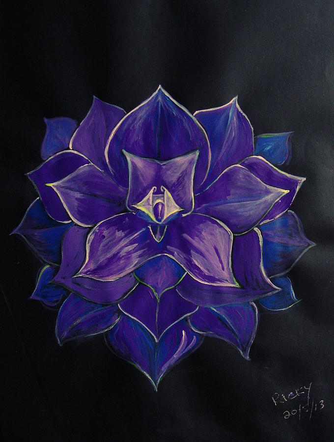 Purple Flower Painting  - Purple Flower Fine Art Print