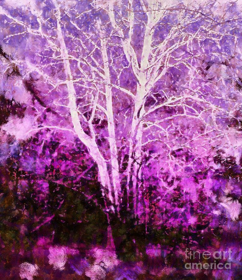 Purple Forest Fantasy Photograph  - Purple Forest Fantasy Fine Art Print