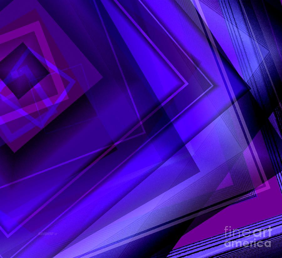 Purple Geometric Transparency Digital Art