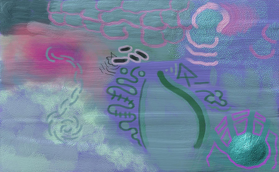 Purple Haze Between The Clouds Painting  - Purple Haze Between The Clouds Fine Art Print