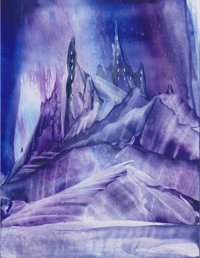 Purple Land Painting  - Purple Land Fine Art Print