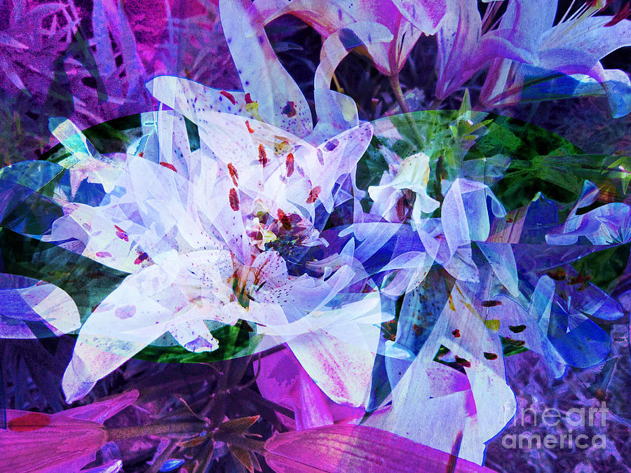 Purple Lillies Abstract Painting