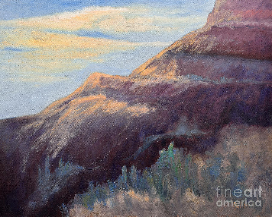 Purple Mountain Painting