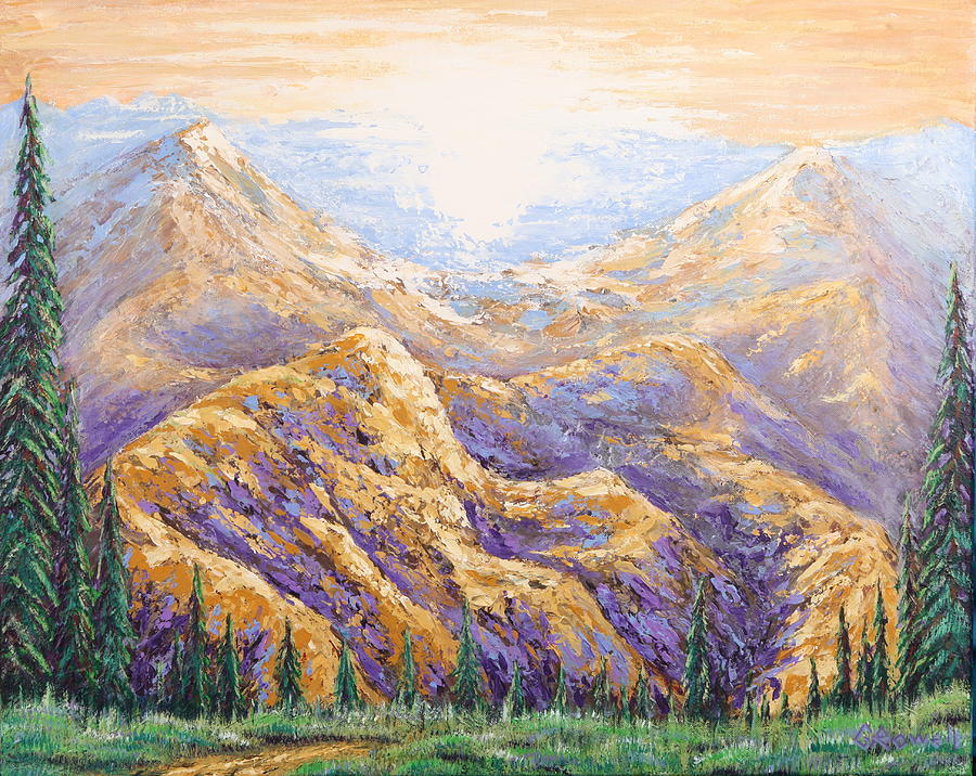 Purple Mountain Majesty Painting By Gary Rowell