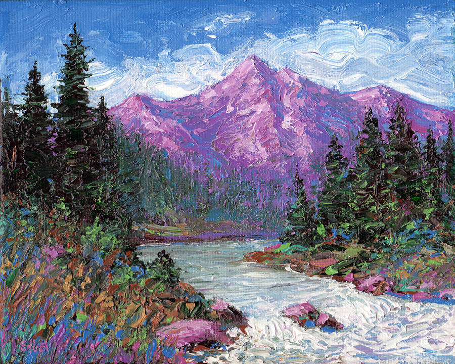 Purple Mountain Majesty Painting By Norman Engel