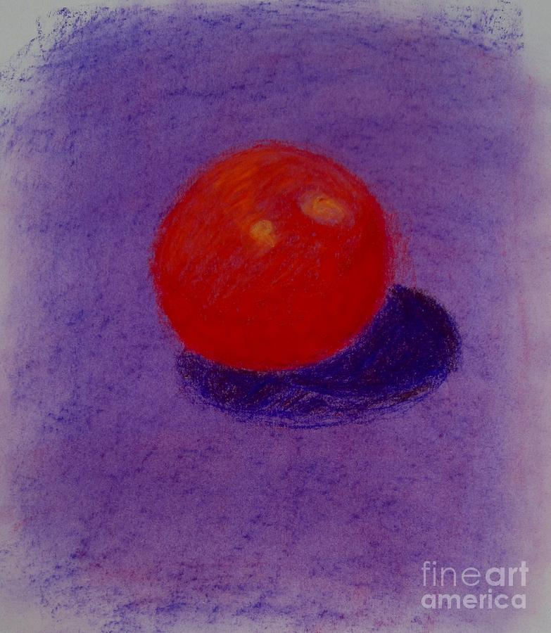 Purple Orange Pastel  - Purple Orange Fine Art Print