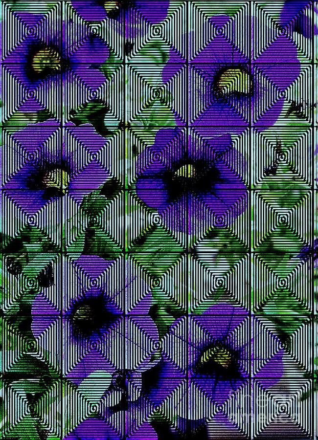 Purple Petunia Abstract Photograph