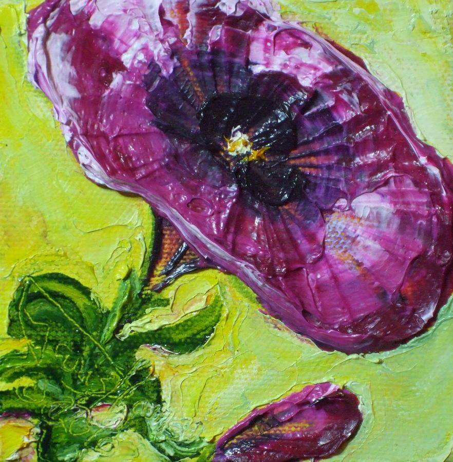 Purple Petunia Painting