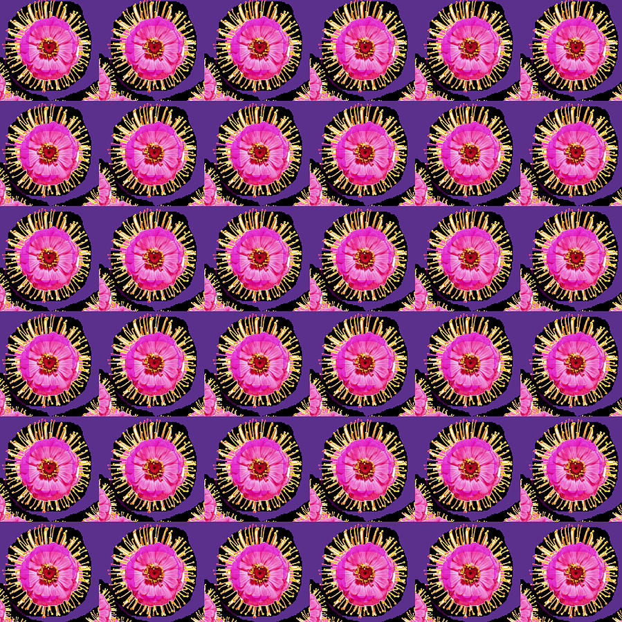 Purple Pink Flower Pattern Decoration Background Designs  And Color Tones N Color Shades Available For Download Rights Managed Royalty Free Licensing Through Www.pixels.comgraphic Design Is A Strategic Artmeaning That It Is Art That Is Planned To Serve A Particular Purpose. Opposite Of It's Cousin Mixed Media - Purple Pink Flower Pattern Decoration Background Designs  And Color Tones N Color Shades Available F by Navin Joshi