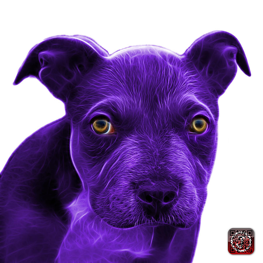 Purple Pitbull Puppy Pop Art - 7085 Wb Painting