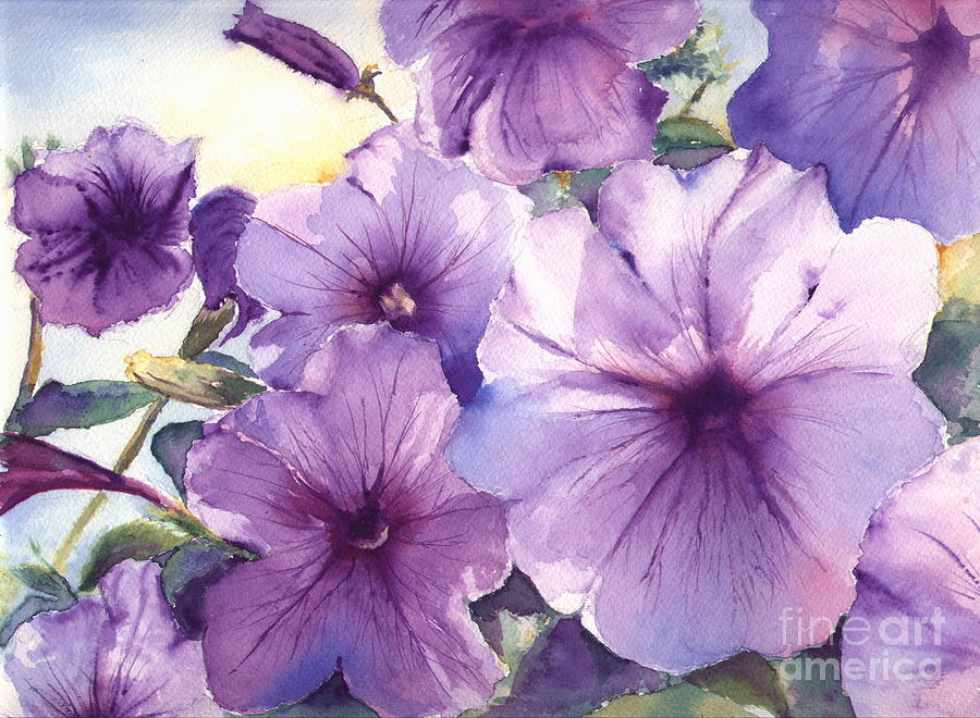 Purple Profusion Painting By Patricia Henderson