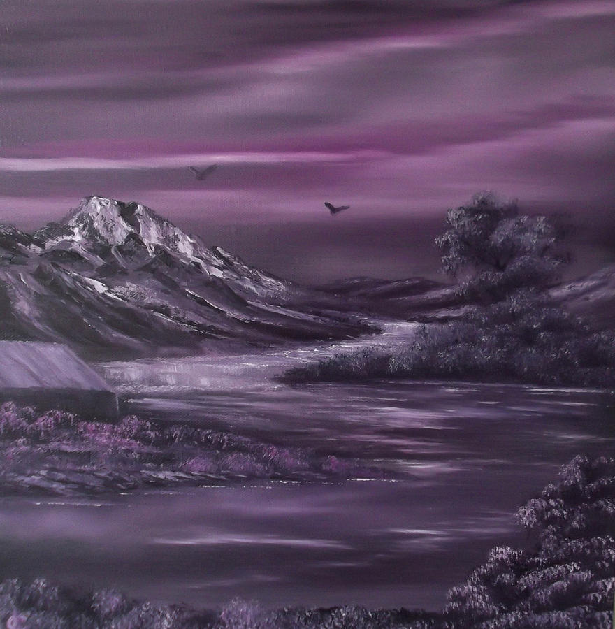 Purple Rain 2 Painting