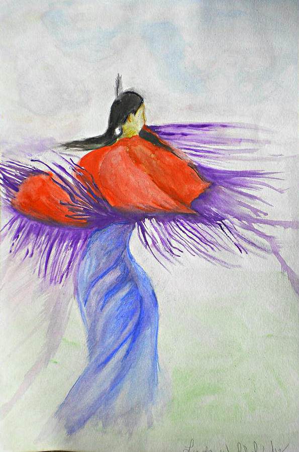 Purple Shawl Dancer Painting  - Purple Shawl Dancer Fine Art Print
